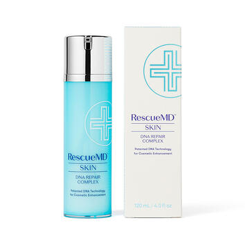 RescueMD Skin DNA Repair Complex bottle and carton packaging